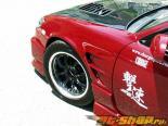 Конверсия передних крыльев Chargespeed S15  Конверсия D-1 Widebody 20mm для Nissan 240SX S14 95-98