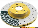 DBA HD 4000XS золотой Drilled + Slotted передний  Rotor Subaru Baja 03-06