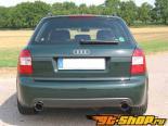 Eisenmann задний Muffler выхлоп Dual Oval Tip Audi A4 B6 Quattro Typ 8E 00-05