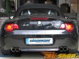 Eisenmann нержавеющий Axleback выхлоп 4x76mm Round Tips BMW Z4 стандартный Valence 06-08