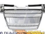 Хромированная решётка радиатора без эмблемы FK Auto Sport для Audi TT MK2 07-10