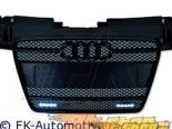 Чёрная решётка радиатора FK Auto Sport на Audi TT Mk2 07-10