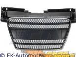 Решётка радиатора без эмблемы FK Auto Чёрный|Хром Sport для Audi TT 07-10