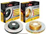 DBA 4000 Drilled & Slotted задний тормозной тормозные диски Honda S2000 00-09