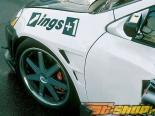 Передние крылья INGS N-Spec на Acura Integra 7|01-8|04