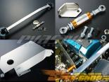 J's Racing Damper, Tower Bar, Heat Shield Combo Pack - Honda S2000 00+