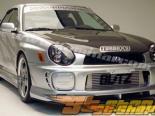 Накладка на передний бампер на Subaru Impreza WRX2002-2003