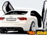 Накладка на задний бампер под карбон Rieger Look A5 S8 на Audi S5 B8 & S-Line 08+