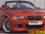 Передний бампер с сеткой Rieger M3 на BMW E46 Cabrio &Coupe 00-03