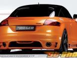 Rieger Карбон Look задний Skirt w/ Intakes для Single Tips Audi TT 8J 07-12