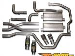 нержавеющий Works 2.5in True Dual выхлоп with High Flow Cats для SW Headers Chevrolet SSR 03-06