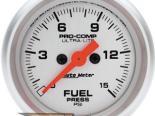 Auto Meter Ultra-Lite Датчик : давления топлива 0-15 PSI #18488