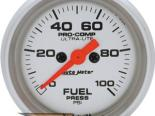Auto Meter Ultra-Lite Датчик : давления топлива 0-100 PSI #18489
