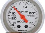Auto Meter Ultra-Lite Датчик : Boost/Vacuum 30 In Hg.-Vac./30 PSI #18516