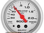 Auto Meter Ultra-Lite Датчик : Boost/Vacuum 60 cm/Hg - 2.0 Bar #18517