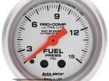 Auto Meter Ultra-Lite Датчик : давления топлива w. Isolator 0-15 PSI #18523