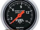 Auto Meter Sport-Comp Датчик : давления топлива 0-15 PSI #18717