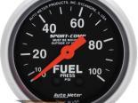 Auto Meter Sport-Comp Датчик : давления топлива 0-100 PSI #18719