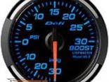 Defi 52mm Синий Racer Датчик: Boost -30inHG to 30PSI #19753