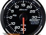 Defi 52mm Белый Racer Датчик: Boost -30inHG to 30PSI #21830