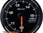 Defi 52mm Белый Racer Датчик: вольтметр 10-15V #21834