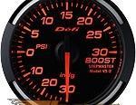 Defi 52mm Красный Racer Датчик: Boost -30inHG to 30PSI #21835
