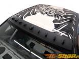 Карбоновый спойлер на крышу Titek Matte для Mitsubishi EVO VII VIII IX 2001-2007