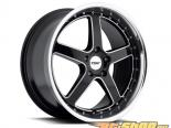 TSW Carthage Gloss Чёрный with Зеркала Lip & Milled Spokes Диски 18x8 5x114.3 +20mm