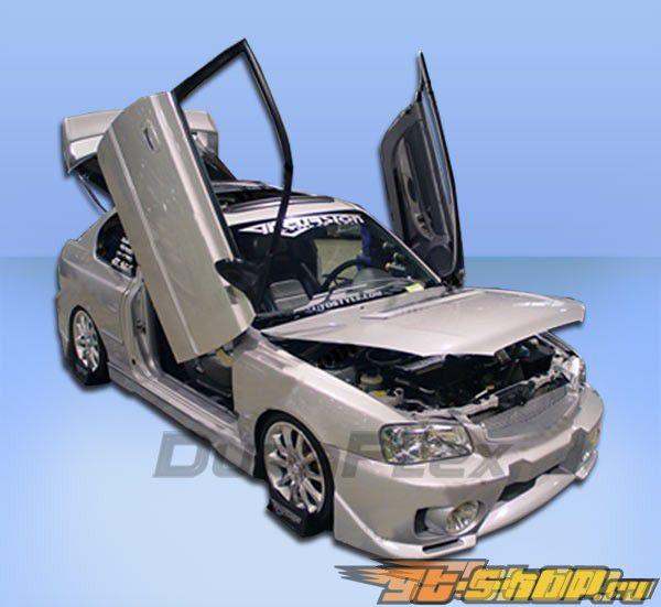 2000 Hyundai Accent Exterior: Передний бампер на Hyundai Accent 2000-2002 Evo 5 Duraflex