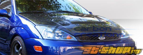 Карбоновый капот на Ford Focus 02-04 Vader-2 Стиль