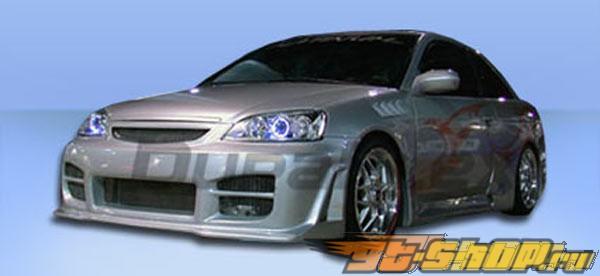 Пороги для Honda Civic 01-05 R34 Duraflex