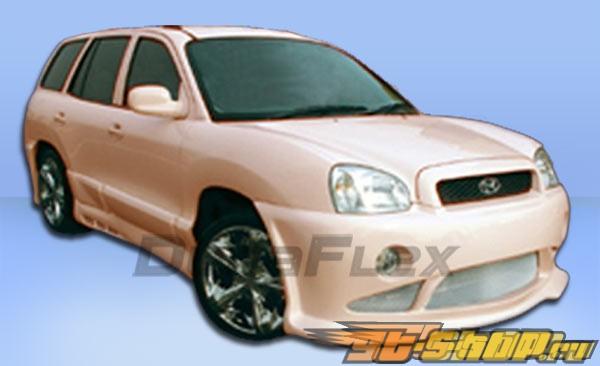 Обвес по кругу на Hyundai Santa Fe 01-06 Platinum Duraflex
