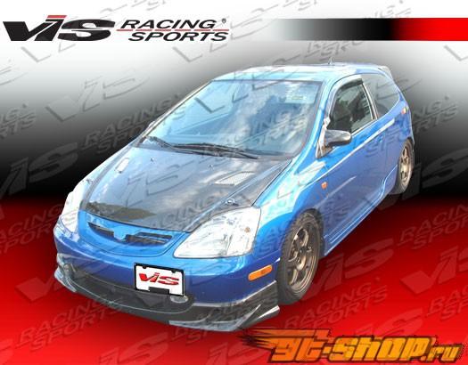 Карбоновый капот на Honda Civic 2002-2005 Techno R Стиль
