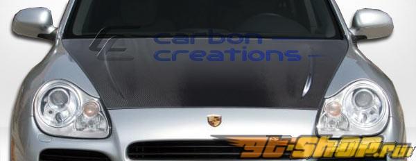 Пластиковый капот на Porsche Cayenne 03-06 стандартный Стиль