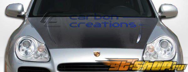 Карбоновый капот на Porsche Cayenne 2003-2006 стандартный Стиль