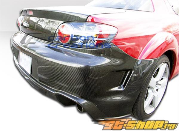 Карбоновый задний бампер GT Competition на Mazda Rx-8 2004-2008