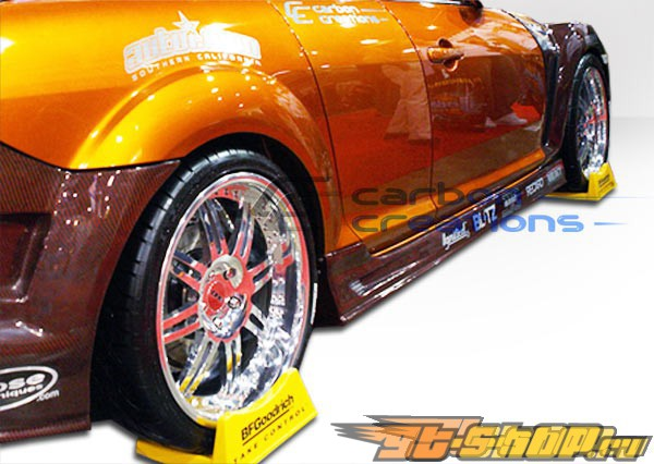 Карбоновые пороги Карбон Creations GT Competition на Mazda Rx-8 2004-2008