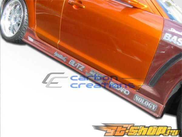 Пороги для Mazda Rx-8 2004-2008 GT Карбон