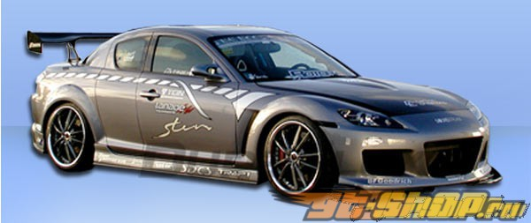 Пороги на Mazda RX-8 04-10 M-1 Speed Полиуретан
