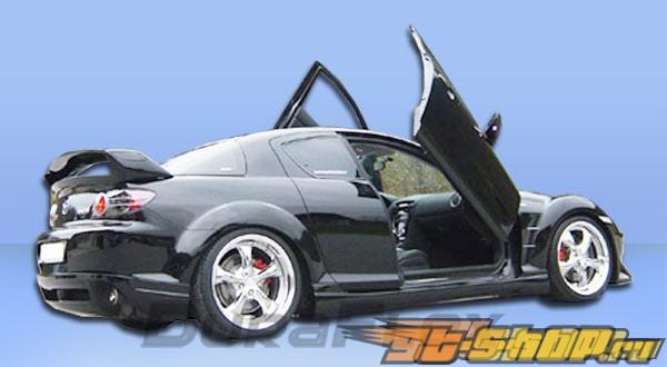 Задняя губа для Mazda RX-8 04-08 R-Speed Duraflex