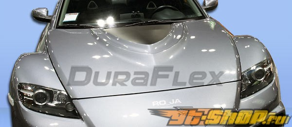 Пластиковый капот на Mazda RX-8 04-08 Vader Стиль