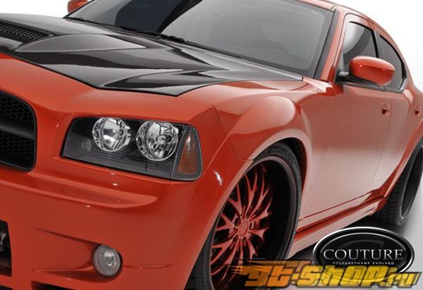 Передние накладки на крылья для Dodge Charger 06-10 Luxe Полиуретан
