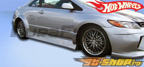 Пороги для Honda Civic 2006-2010 Hot Whees Duraflex