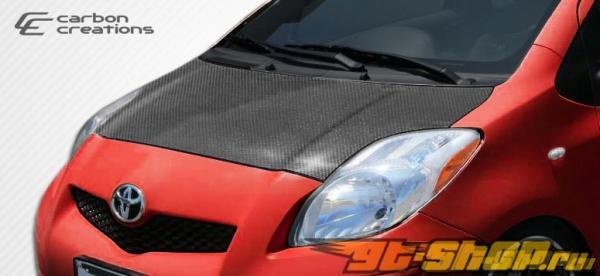 Карбоновый капот стандартный для Toyota Yaris 2007-2011
