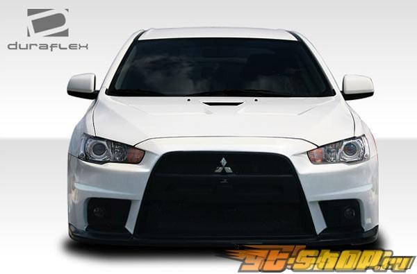 Пластиковый капот Evo X Look для Mitsubishi Lancer 2008-2011
