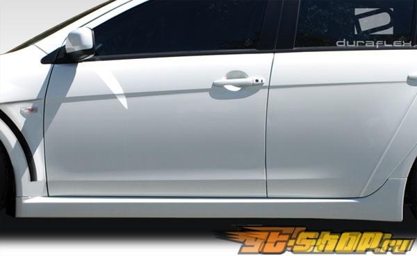 Пороги Evo X Look на Mitsubishi Lancer 2008-2011