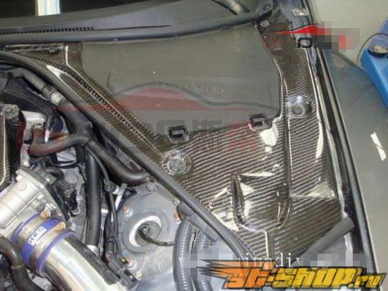 Карбоновая крышка аккумулятора и расширительного бочка для Nissan GT-R
