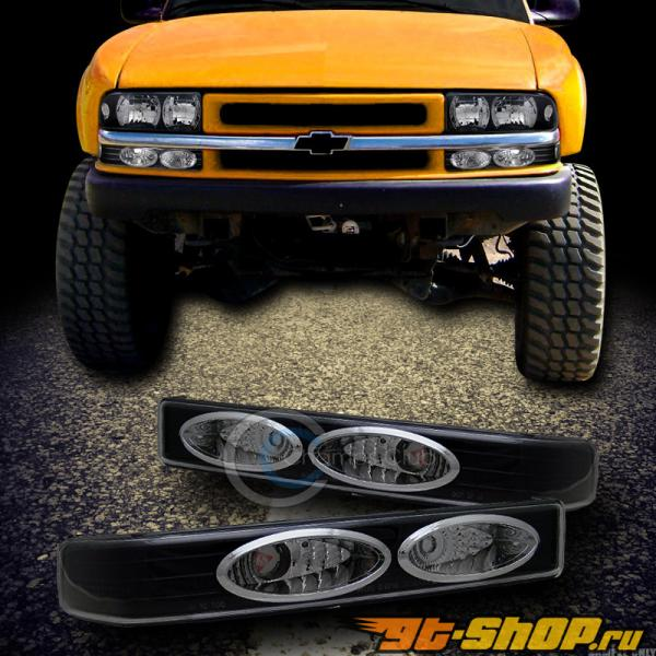 Поворотники для Chevrolet Sonoma 94-04 Чёрный CLEAR