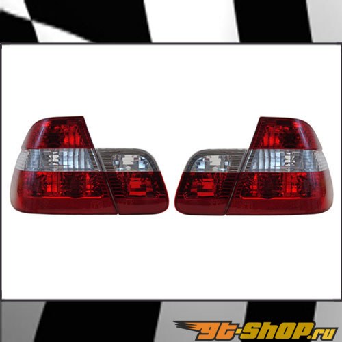 Задняя оптика на BMW 3 Series E46 99-06 Clear Красный