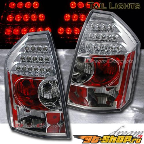 Задняя оптика на Chrysler 300C 05-10 Хром Красный